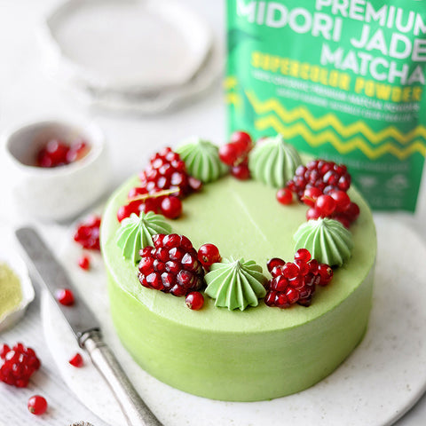 Matcha Tea Cake with Matcha & Pandan Buttercream