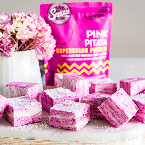 Pink Pitaya Zebra Marshmallows
