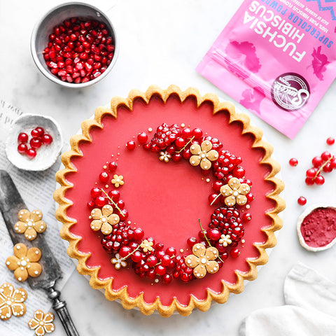 Pomegranate Hibiscus Supercolor Powder Flower Tart