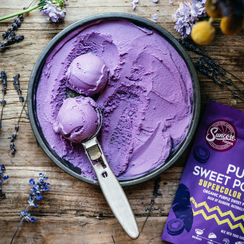 Purple Sweet Potato Ice Cream