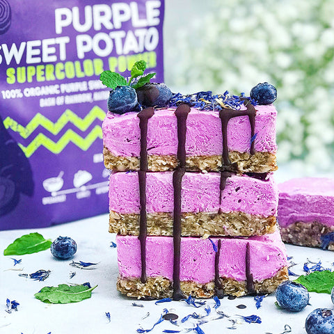 Purple Sweet Potato Cheesecake Bars