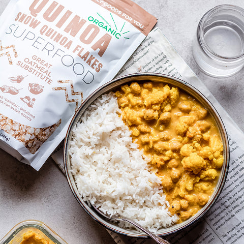 Quinoa & Chickpea Curry with Cauliflower