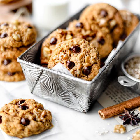 Spiced Quinoa Chocolate Chip Cookies