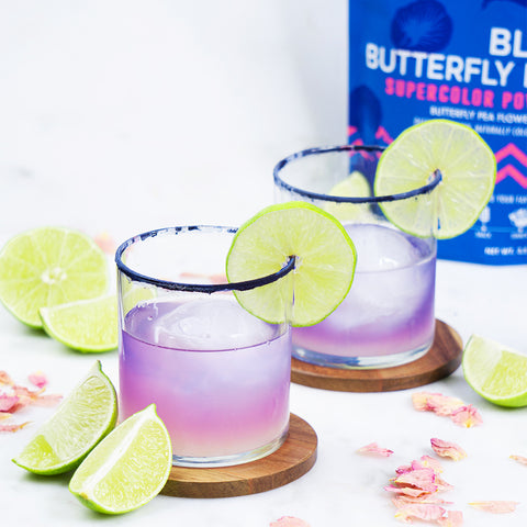 Sunset Tequila Blue Butterfly Drink