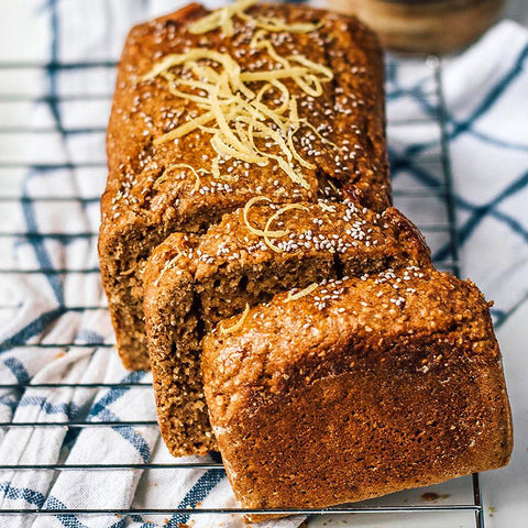 Wholesome Vegan Lemon Chia Seeds Bread