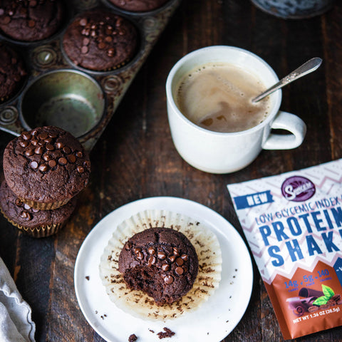 Chocolate Mocha Protein Muffins