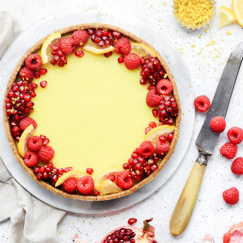 No Bake Lemon Curd Tart