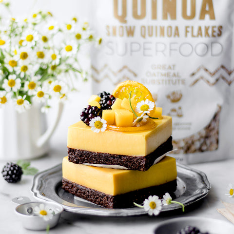 Mango Lemon Chocolate Cacao Quinoa Bars