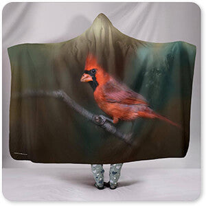 A Splash of Red - Hooded Blanket