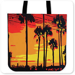 Abstract Graffiti Artist Collection California Sunrise - Canvas Tote Bag