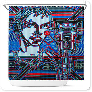Abstract Graffiti Artist Collection Head Phones - Bathroom Shower Curtain - EXPRESS DELIVERY!