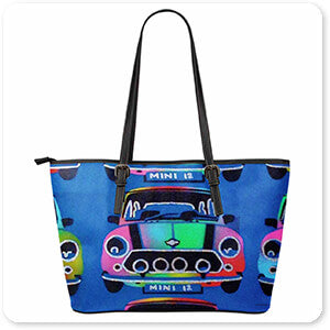 Abstract Graffiti Artist Collection Mini - Large Small Leather Tote Bag - EXPRESS DELIVERY!
