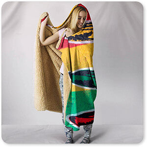 Abstract Graffiti Artist Collection Rasta Banana - Hooded Blanket