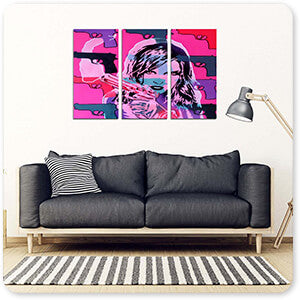 Abstract Graffiti Artist Collection Revolver Pinks - Multi-piece Canvas Art - 2 Designs - EXPRESS DELIVERY!