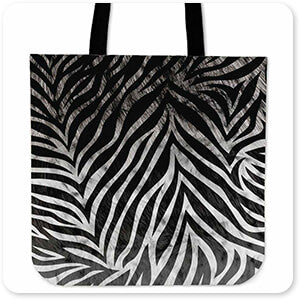 Animal Patterns Collection - Canvas Canvas Tote Bags - 7 Designs Leopard, Tiger, Zebra, Cheetah, Snake print patterns