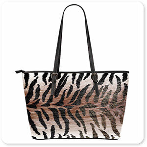 Animal Patterns Collection - Large Leather Tote Bags - 11 Designs - EXPRESS DELIVERY! Leopard, Tiger, Zebra, Cheetah, Snake print patterns