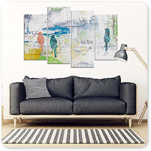 Bird Trio On Wires - Multi-piece Canvas Art - 3 Designs - EXPRESS DELIVERY!