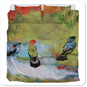 Birds The Valley-A - Duvet Bedding Set