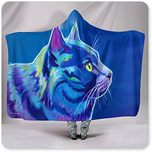 Cat - Blue Boy - Hooded Blanket