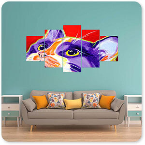 Cat Issa - Multi-piece Canvas Art - 3 Designs