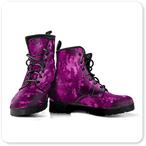 Colored Camoflauge Collection The New Camo Magenta - Men's Leather Boots - EXPRESS DELIVERY!