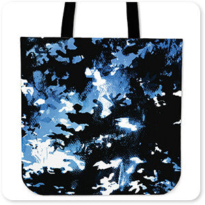 Colored Camoflauge Collection The New Camo Night Blue - Canvas Tote Bag
