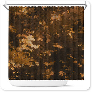 Colored Camoflauge Collection The New Camo Wooded Brown - Bathroom Shower Curtain - EXPRESS DELIVERY!