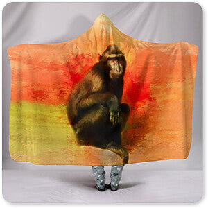 Colorful Expressions Black Monkey - Hooded Blanket