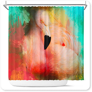 Colorful Expressions Flamingo - Bathroom Shower Curtain