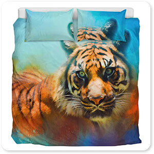 Colorful Expressions Tiger 2 - Bedding Set