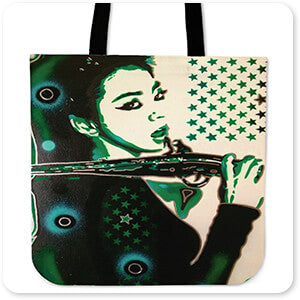 Femme Fatale Collection Asia Green - Canvas Tote Bag