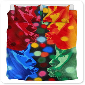 For the Funk Collection Atom Full Image - Duvet Bedding Set