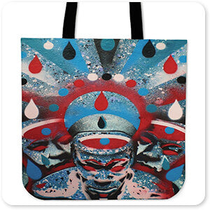 For the Funk Collection Teardrops - Canvas Tote Bag
