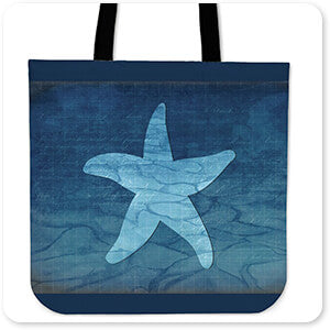Gypsy Blue Cyanotype Starfish - Canvas Tote Bag