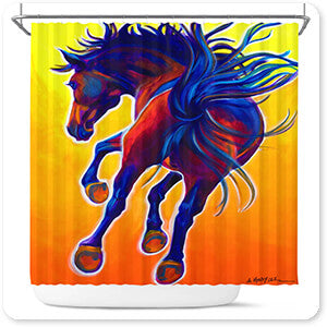 Horses Collection Horse Kick Up Your Heels - Bathroom Shower Curtain - EXPRESS DELIVERY!