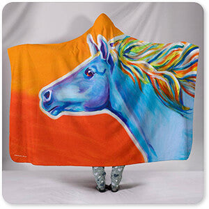 Horses Collection Horse Like The Wind - Hooded Blanket