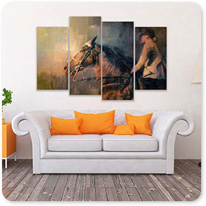 Horses Collection Into The Turn - Multi-piece Canvas Art - 2 Designs - EXPRESS DELIVERY!