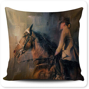 Horses Collection Into The Turn - Pillow Cover
