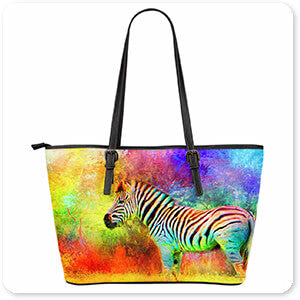 Jai Johnson Large Leather Tote Bags - Jazzy Animal Collection 2 - 5 Designs