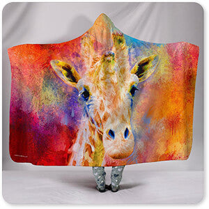 Jazzy Giraffe - Hooded Blanket