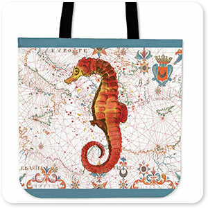 Jean Plout Tote Bags - Nautical Treasures Collection 1 - 6 Designs