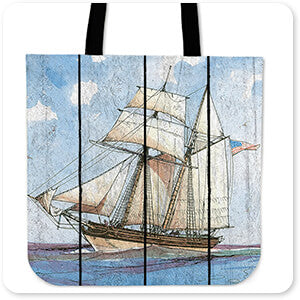 Nautical Ships-B - Tote Bag