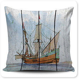 Nautical Ships-C - Pillow