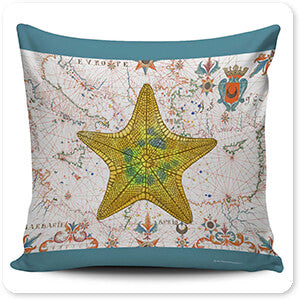 Nautical Treasures Yellow Starfish - Pillow