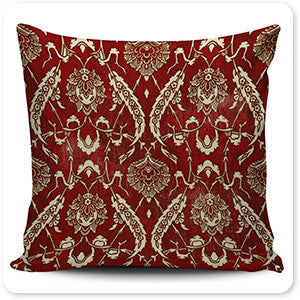 Patterns Collection Damask Rooster vI - Pillow Cover