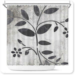 Patterns Collection Leaf Pattern 2 - Bathroom Shower Curtain - EXPRESS DELIVERY!