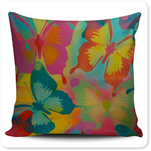 Retro Abstract and Faces Collection Butterflies - Pillow_Collection_Tiles