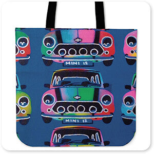 Retro Abstract and Faces Collection Mini - Canvas Tote Bag