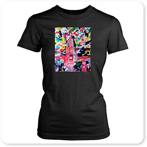 Retro Abstract and Faces Collection New York Camo - T-Shirt
