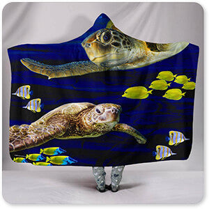 Sea Creatures Collection Sea Turtles - Hooded Blanket